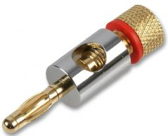 PRO SIGNAL PSG03599  4Mm Plug Chrome/Gold Red